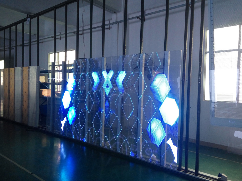 Glass-LED screen Transparent